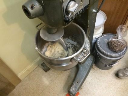 Big ol' Hobart mixer