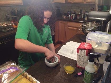 Sawyer crushing anise seeds
