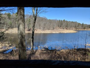 Mud Pond through the waterfowl blind