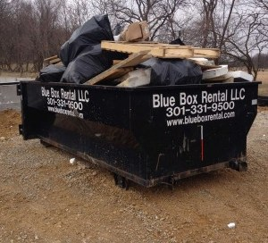 Rented Dumpster at Construction Site in Hagerstown, MD