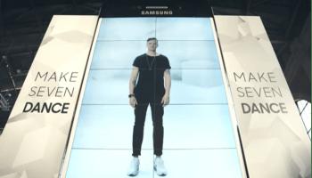 8bcdb3b15b28b Samsung fez todo mundo dançar na frente de um Galaxy S6 gigante em Zurique
