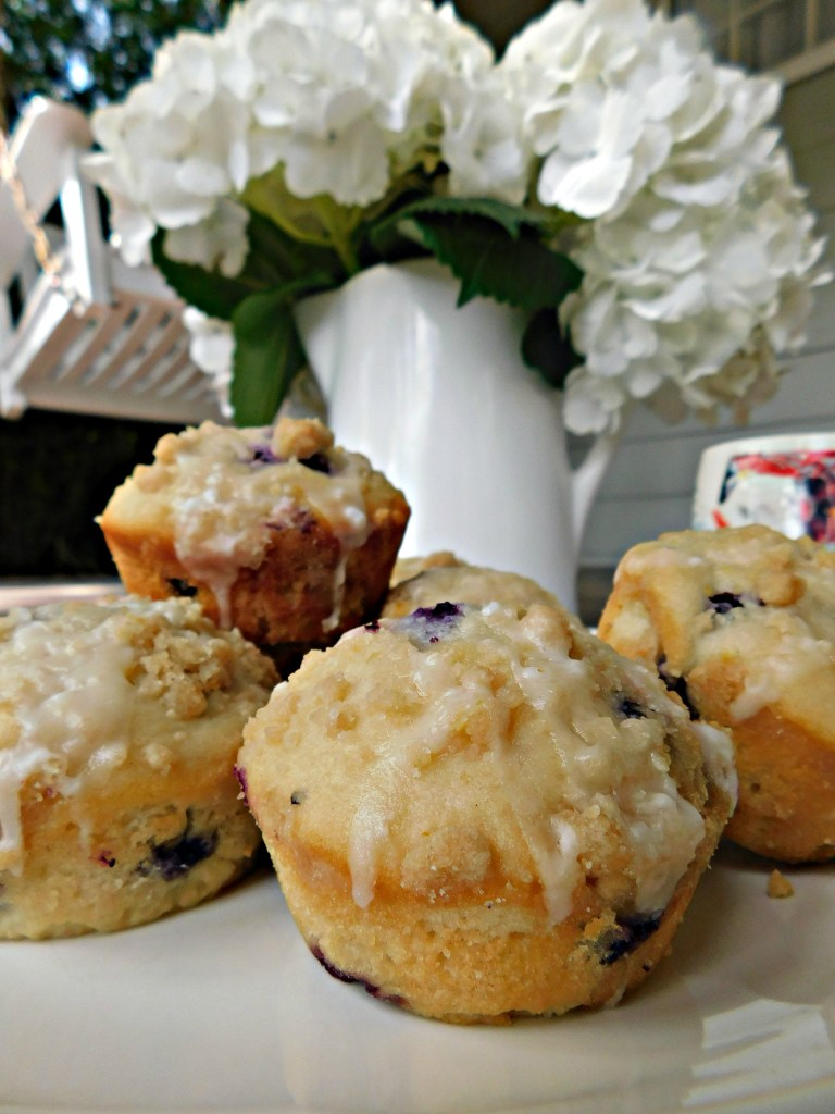 Lemon Ricotta Muffins with Blueberries