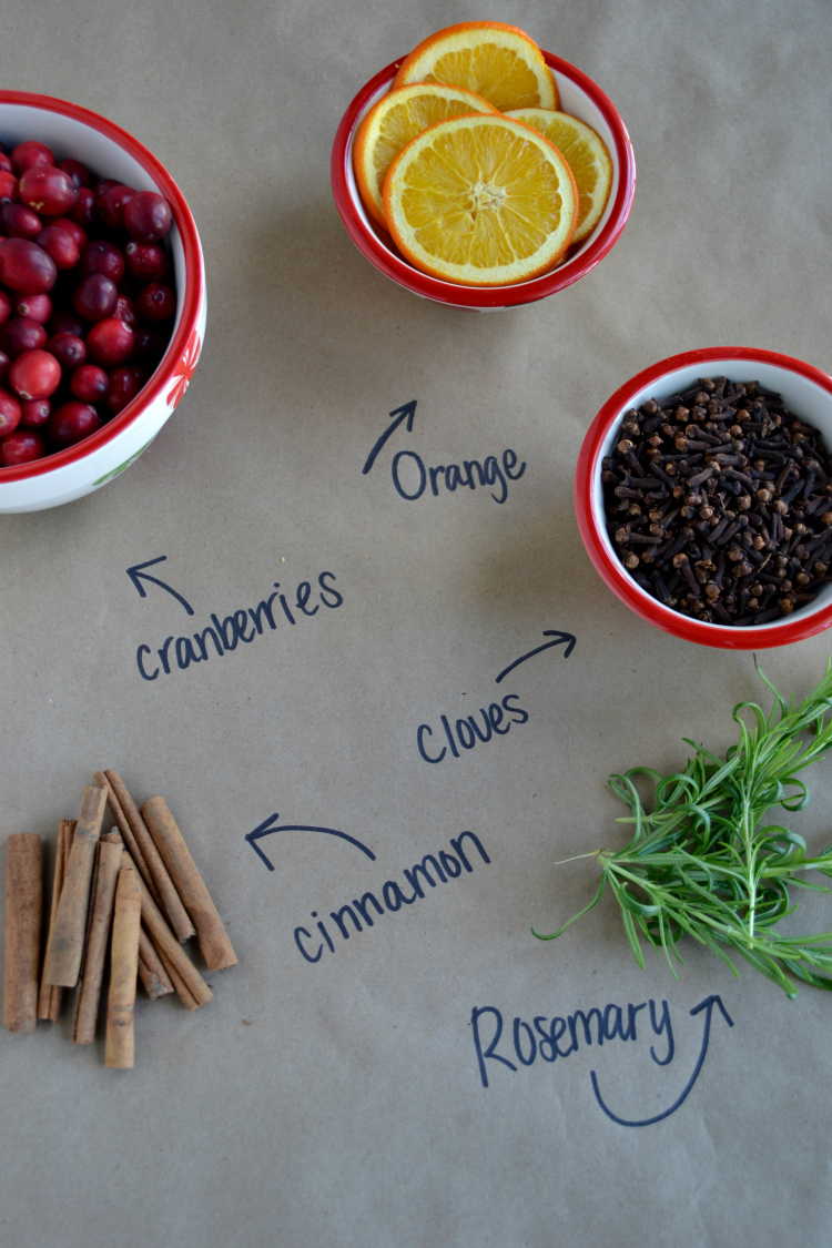 """""""Christmas in a Jar"""" Stovetop Potpourri is a thrifty DIY gift idea perfect for friends, family and coworkers. The perfect blend of herbs and spices make the whole house smell like Christmas!"""