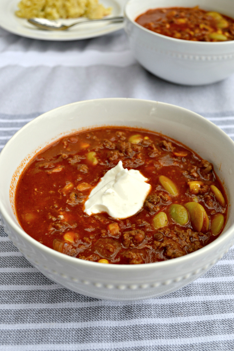 Brunswick Stew with Beef and Pork Sausage is a hearty meat and vegetable soup perfect for chilly nights. The recipe for this traditional southern dish is easy to follow and the whole family will love it!