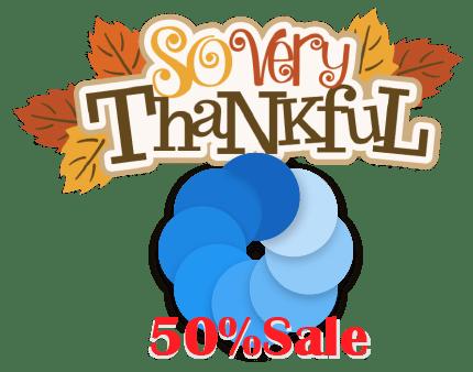 Thanksgiving Sale New Calendar Card V219 Bluecoins