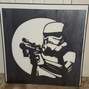 Metal Wall Art Storm Trooper