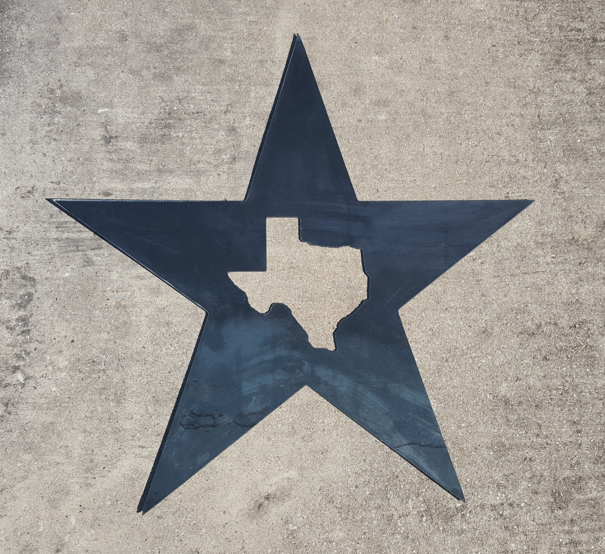 Texas Star Wall Art texas star metal wall art | blue collar welding llc
