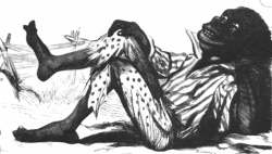 19th century illustration of a Black man
