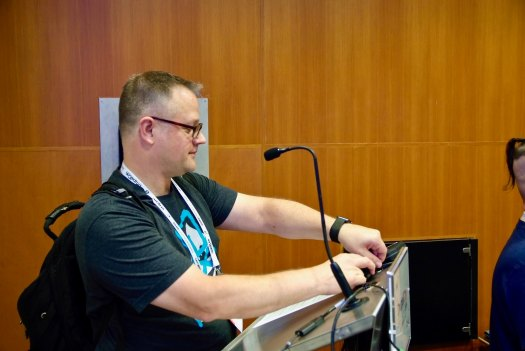 breaking down the equipment at drupalcon amsterdam