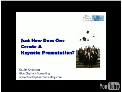 """Dr. Jim Anderson's """"How To Create A Keynote Speech"""" Video"""
