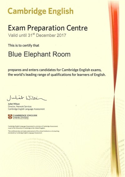CERTIFICADO CENTRO PREPARADOR CAMBRIDGE 2017