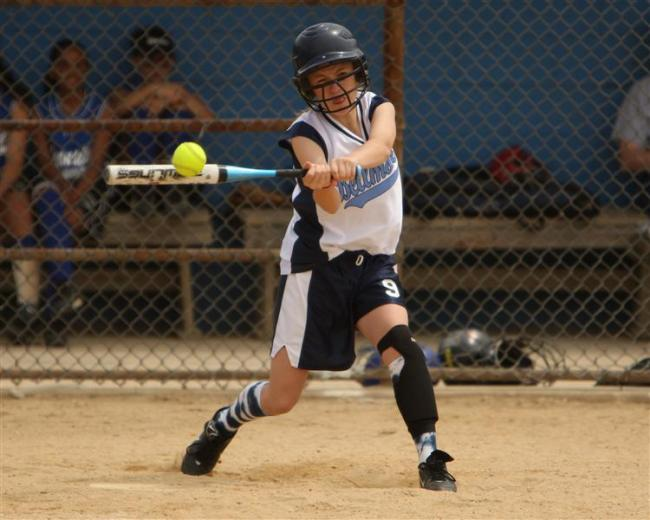 BlueFire player at bat