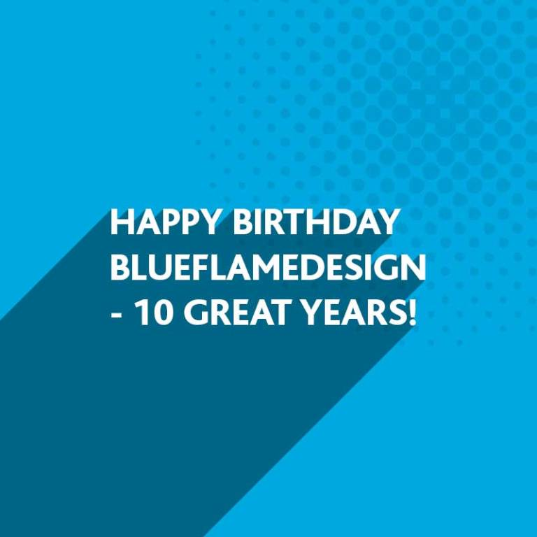 Happy Birthday BlueFlameDesign | Award-winning Branding, Marketing and Website Design throughout West Sussex