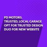New website design for PD Motors