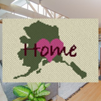Alaska home C2C corner to corner crochet pattern