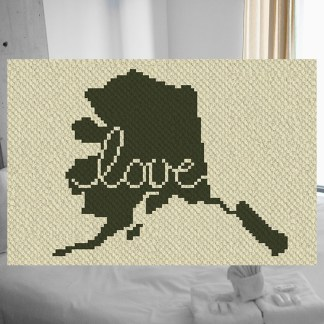 Alaska love C2C corner to corner crochet pattern