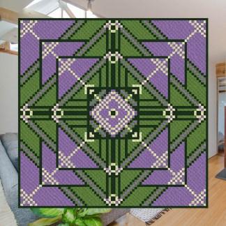 Lupines Garden C2C Corner to Corner Crochet Pattern
