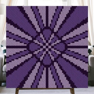 Purple Rays Corner to Corner Crochet Pattern