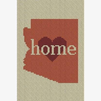 Arizona Home C2C Crochet Pattern Corner to Corner Graphghan Cross Stitch Blue Frog Creek