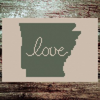 Arkansas Love Cross Stitch Chart
