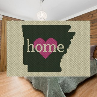 Arkansas Home C2C Corner to Corner Crochet Pattern