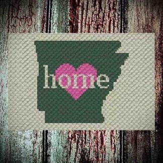 Arkansas Home C2C Crochet Pattern