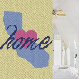 California Home C2C Crochet Pattern