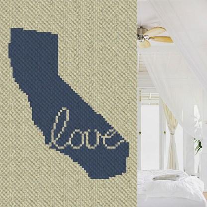 California Love C2C Corner to Corner Crochet Pattern