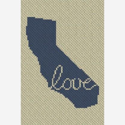 California Love C2C Corner to Corner Crochet Patternv