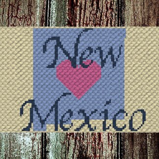Heart New Mexico C2C Crochet Pattern