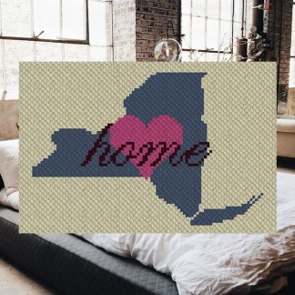 New York Home C2C Corner to Corner Crochet Pattern