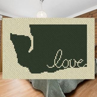 washington love c2c corner to corner crochet pattern