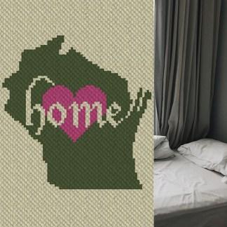 Wisconsin Home C2C Corner to Corner Crochet Pattern