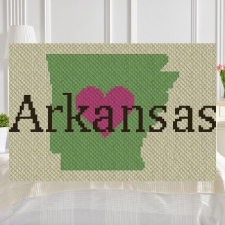 Heart Arkansas C2C Corner to Corner Crochet Pattern