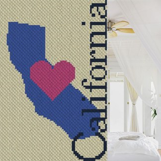 Heart California C2C Corner to Corner Crochet Pattern