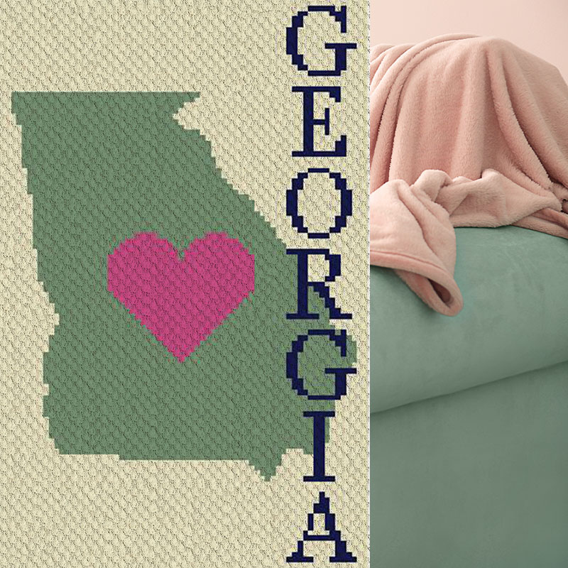 Heart Georgia C2C Crochet Pattern | Blue Frog Creek