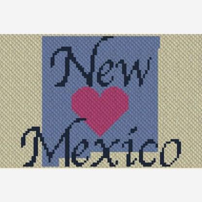 Heart New Mexico C2C Corner to Corner Crochet Pattern