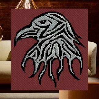 Shades of the Raven C2C Corner to Corner Crochet Pattern
