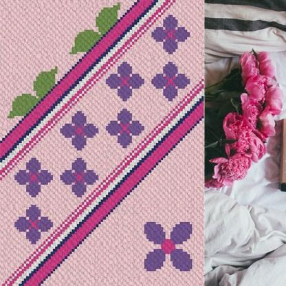 spring Lanec2c corner to corner crochet pattern