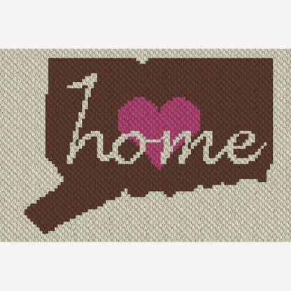 Connecticut Home C2C Corner to Corner Crochet Pattern