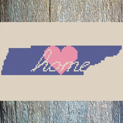Tennessee Home Cross Stitch Chart