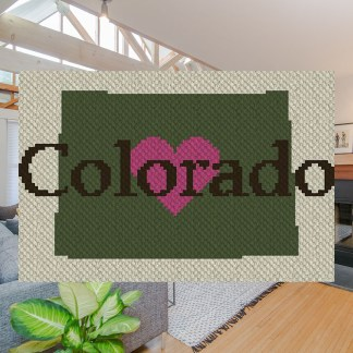 Heart Colorado C2C Corner to Corner Crochet Pattern