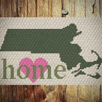 massachusetts home c2c crochet pattern