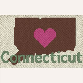 Heart Connecticut C2C Crochet Pattern