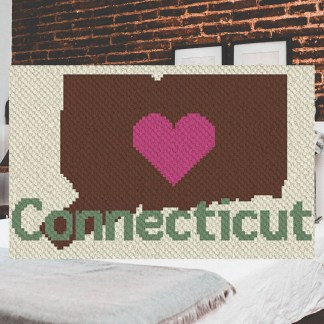 Heart Connecticut corner to corner c2c crochet pattern