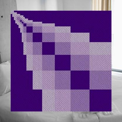 disappearing blocks corner to corner C2C crochet pattern