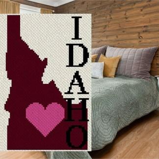 Heart Idaho corner to corner crochet pattern