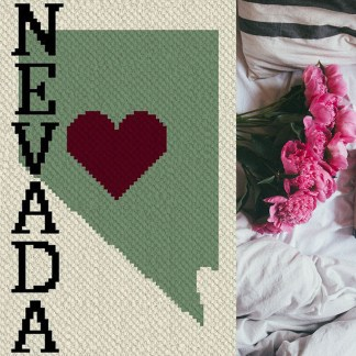 Heart Nevada C2C corner to corner crochet pattern