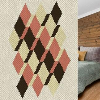 Perspective corner to corner crochet pattern