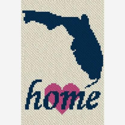 Florida Home Corner to Corner C2C Crochet Pattern